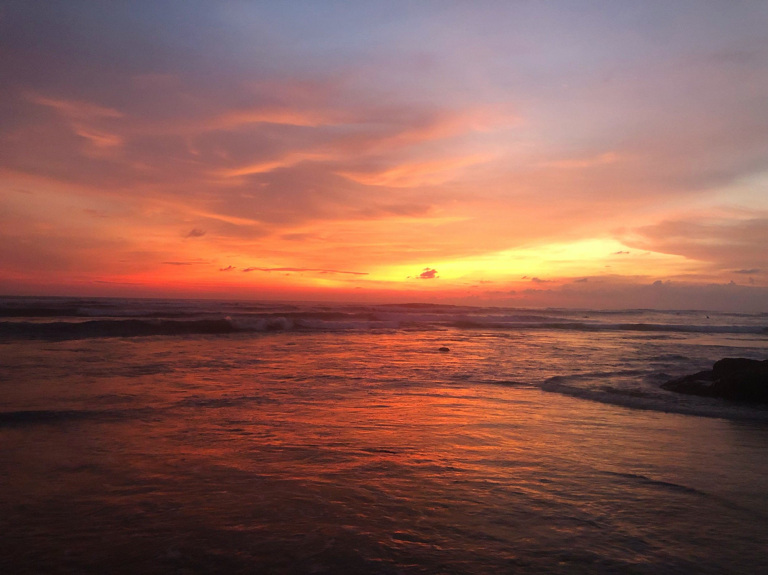 Gorgeous sunsets in Canggu!