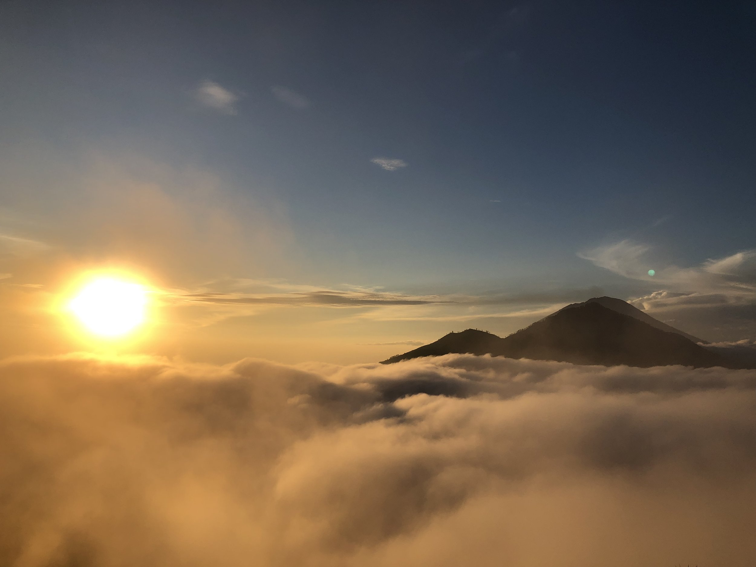 Sunrise hike on Mount Batur