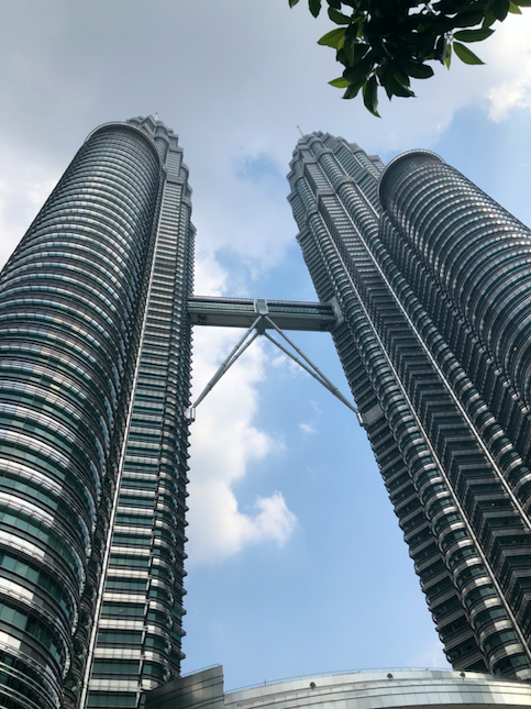Petronas twin towers. This is a nice area of the city to walk around in.