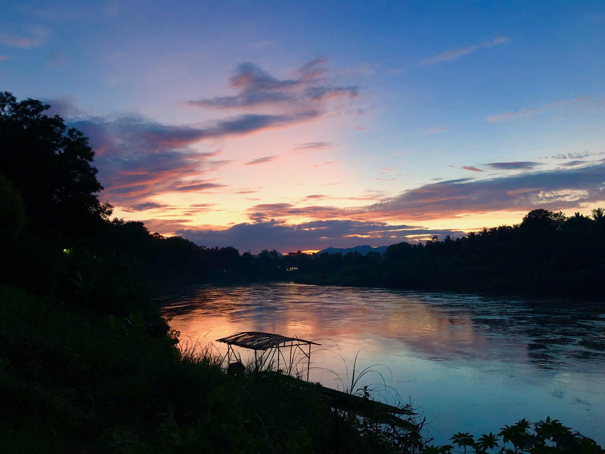 Sunset on the Nam Khan River
