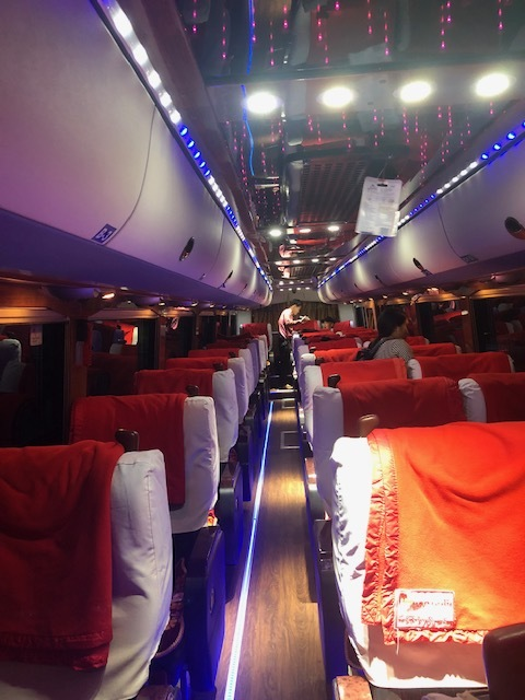 The nicest VIP bus I've ever taken was in Myanmar. It looked like a night club!