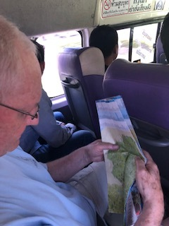 Roy brings his own map to Thailand