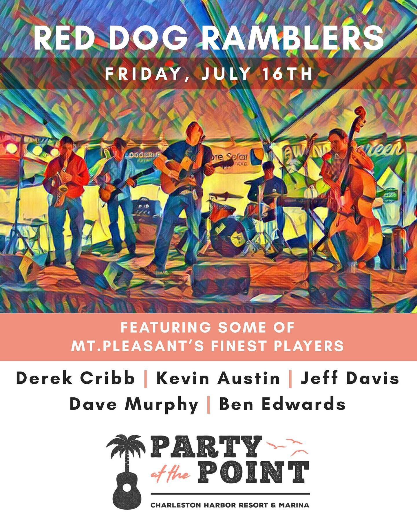 Tomorrow's Party at the Point show sold out fast, so get your tickets to NEXT FRIDAY's show with the Red Dog Ramblers while supplies last! Link in our bio for tix!!  Special thanks to @cheerssc @ketelonebotanical @ketelone @corona @modelousa @thebridgeat1055 @my98rock @redsicehouse @starlingchevroletmp @earformusic @charlestonharborresort @charlestonharbormarina @chasharborfishhouse