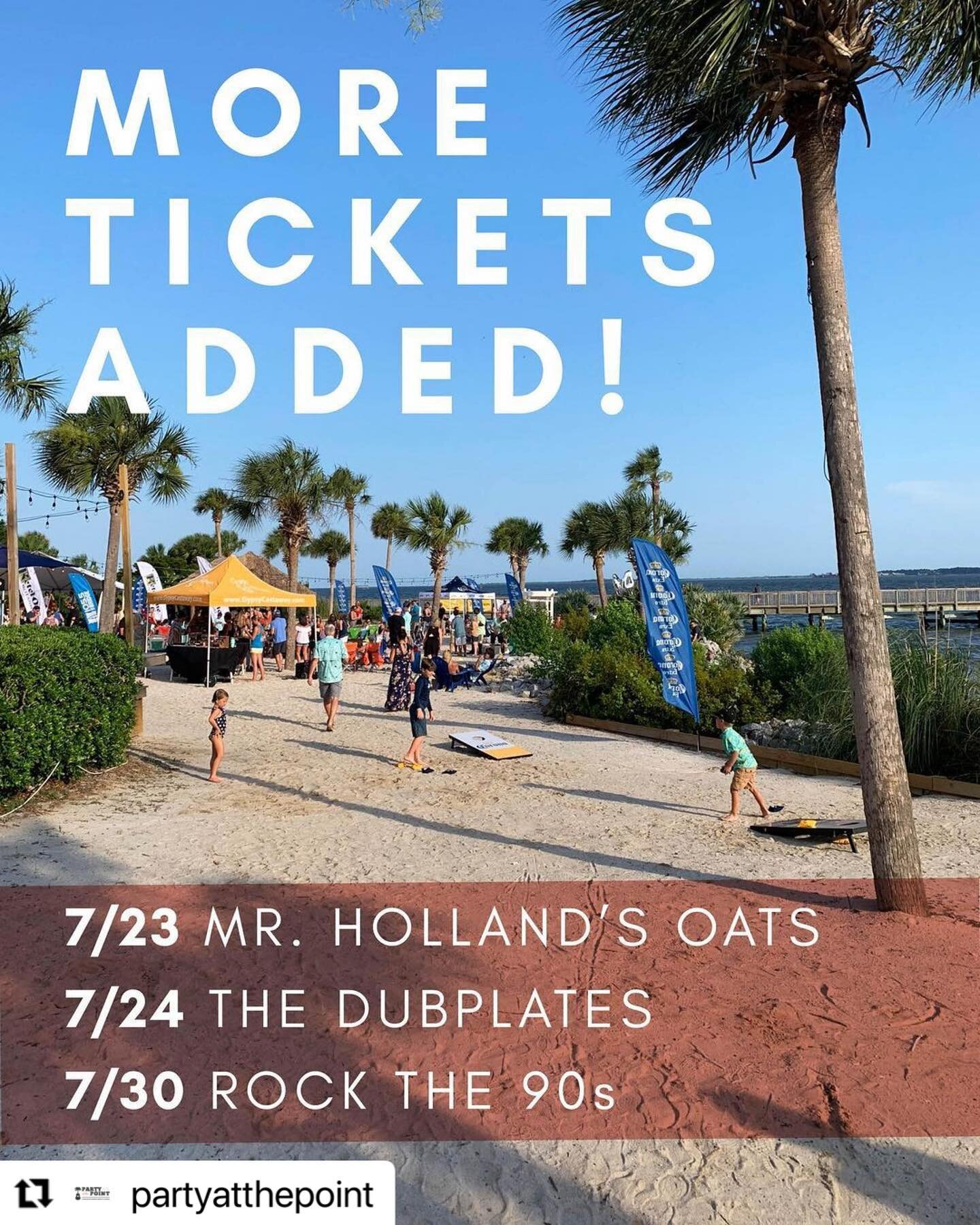 Good news, Charleston! We've just been approved to release a limited amount of tickets for upcoming shows that were previously sold out:  @mrhollandsoats this Friday  @thedubplates this Saturday @rockthe90sofficial next Friday 7/30  Stay tuned for new show announcements next week (!!) and grab your tickets at the link in our bio!
