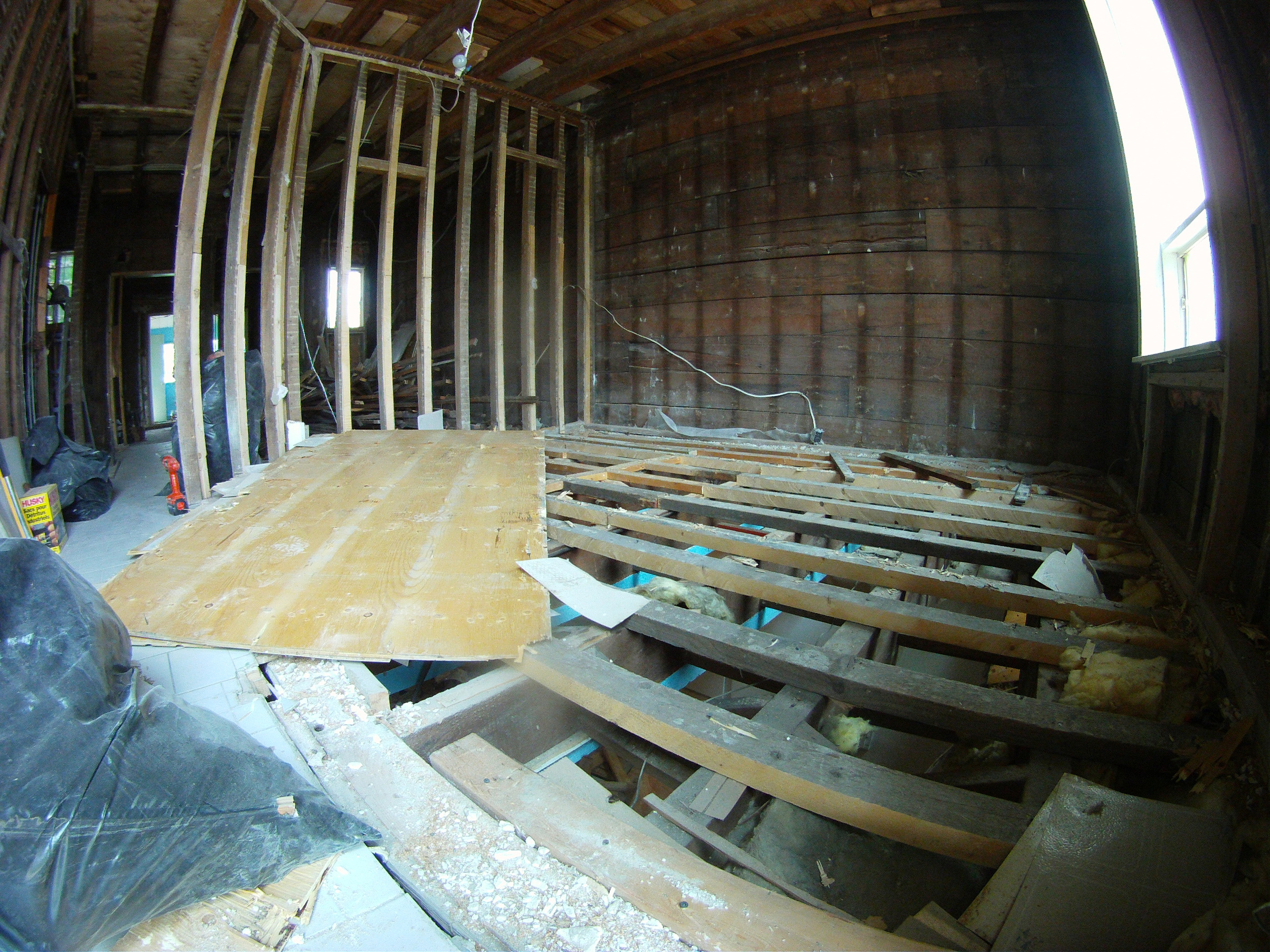 Ripping out floors