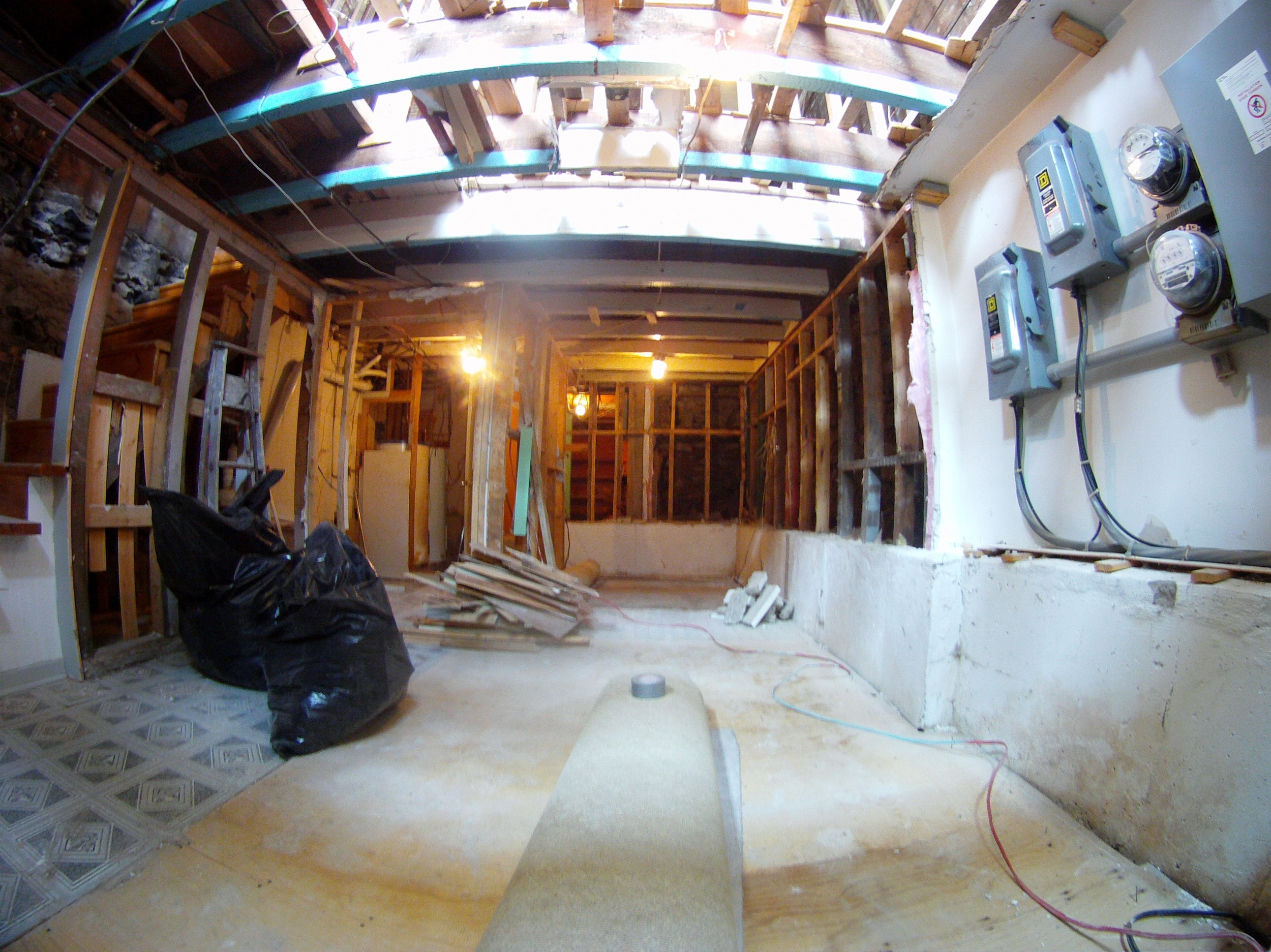 Basement......we will rip up the floors next week.