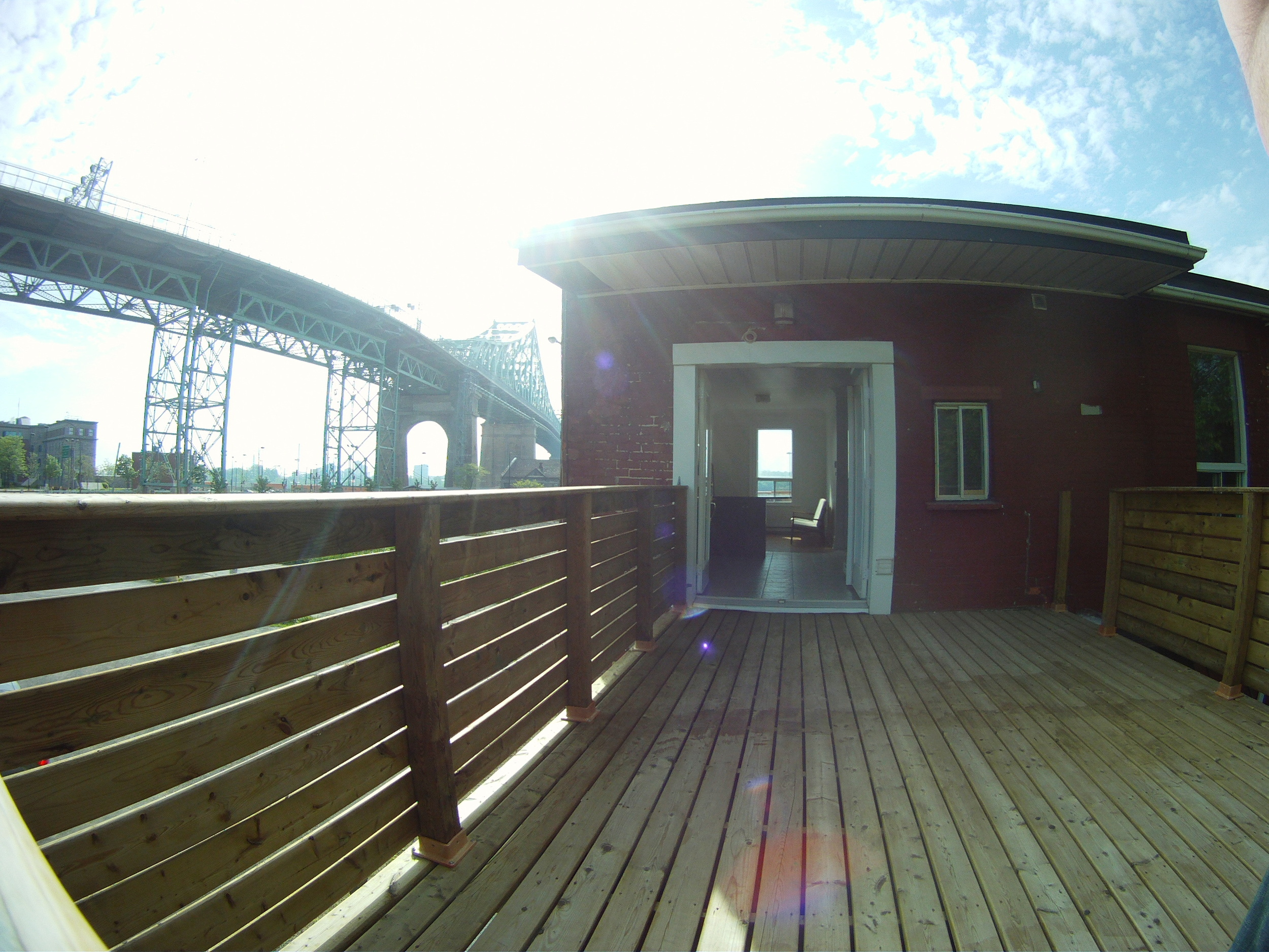 Private Patio overlooking Jacques Cartier Bridge