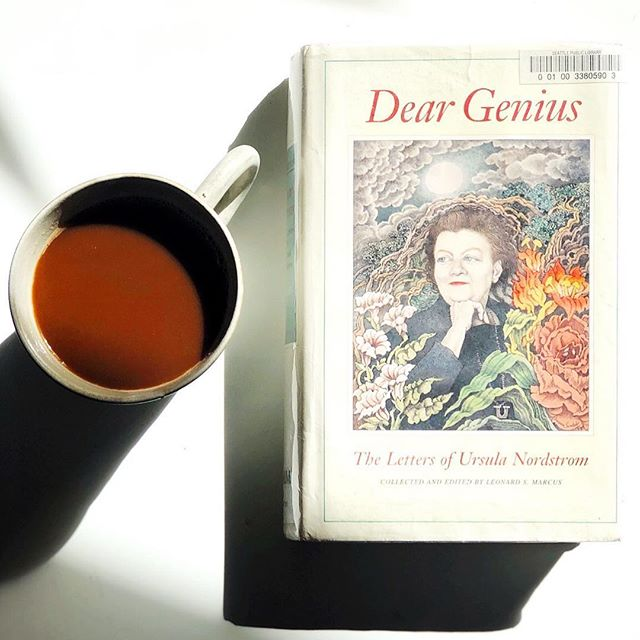 "Mine! All mine!! For 21 days... ""Dear Genius: The Letters of Ursula Nordstrom"" from @harpercollinsus. Letters from the great #UrsulaNordstrom to authors and illustrators like Maurice Sendak, EB White, Margaret Wise Brown, Shel Silverstein and more. #overduelibrarybookoftheweek"
