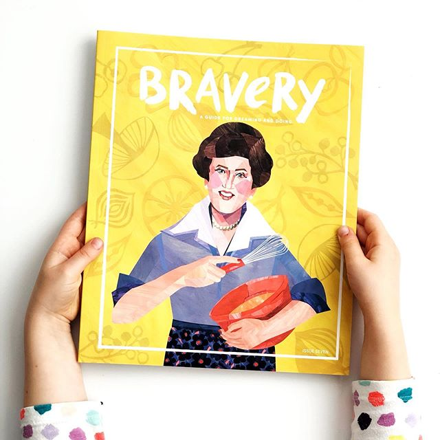 Fun mail day!! Some tasty stuff cooking over here....@braverymag