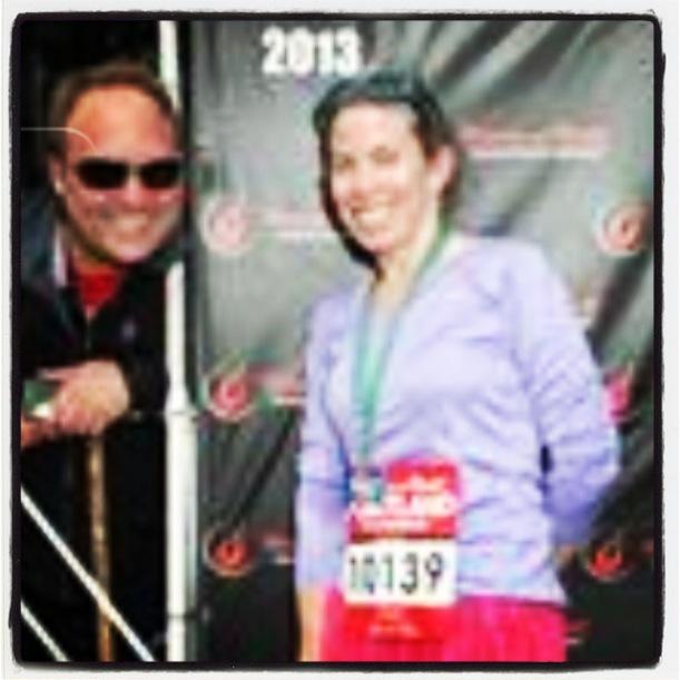 Scott photobombing my finish line pic!