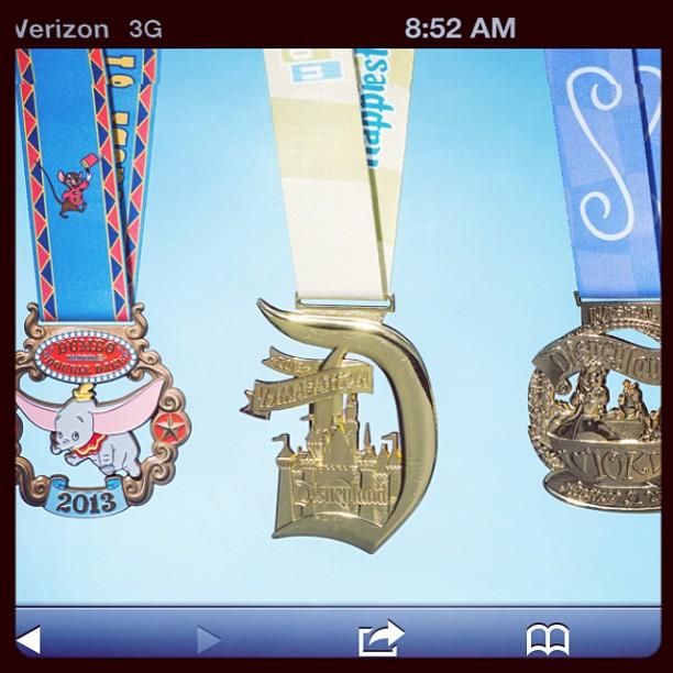 the 3 dumbo challenge medals