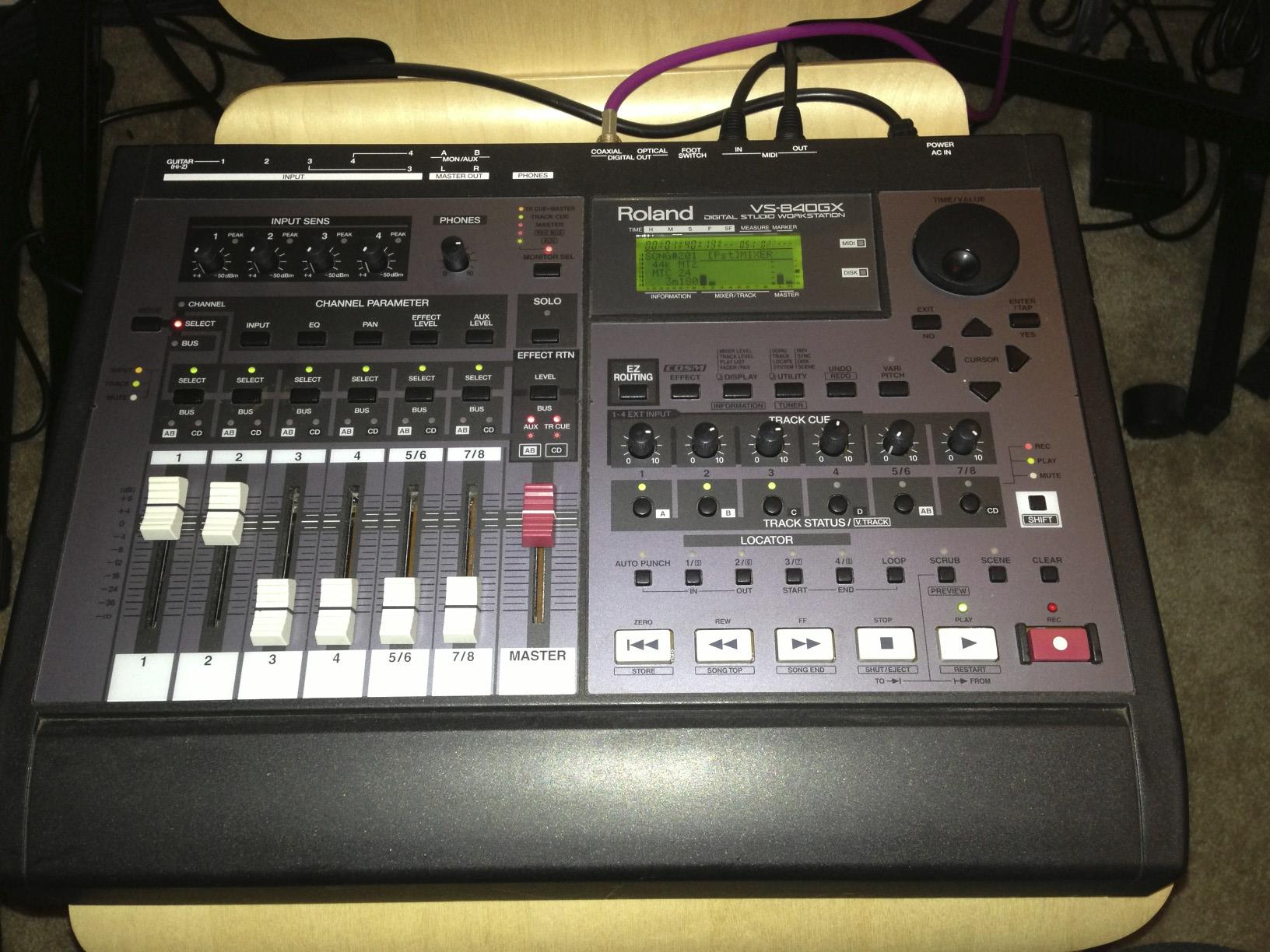 "The VS-840GX from eBay...aka my ""Time Machine""."