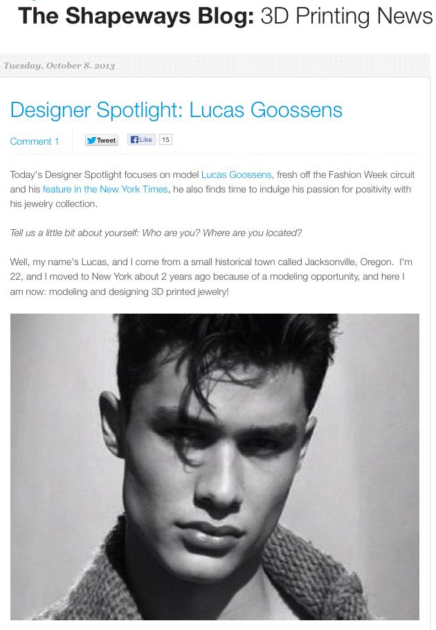 Designer Spotlight in the Shapeways Blog