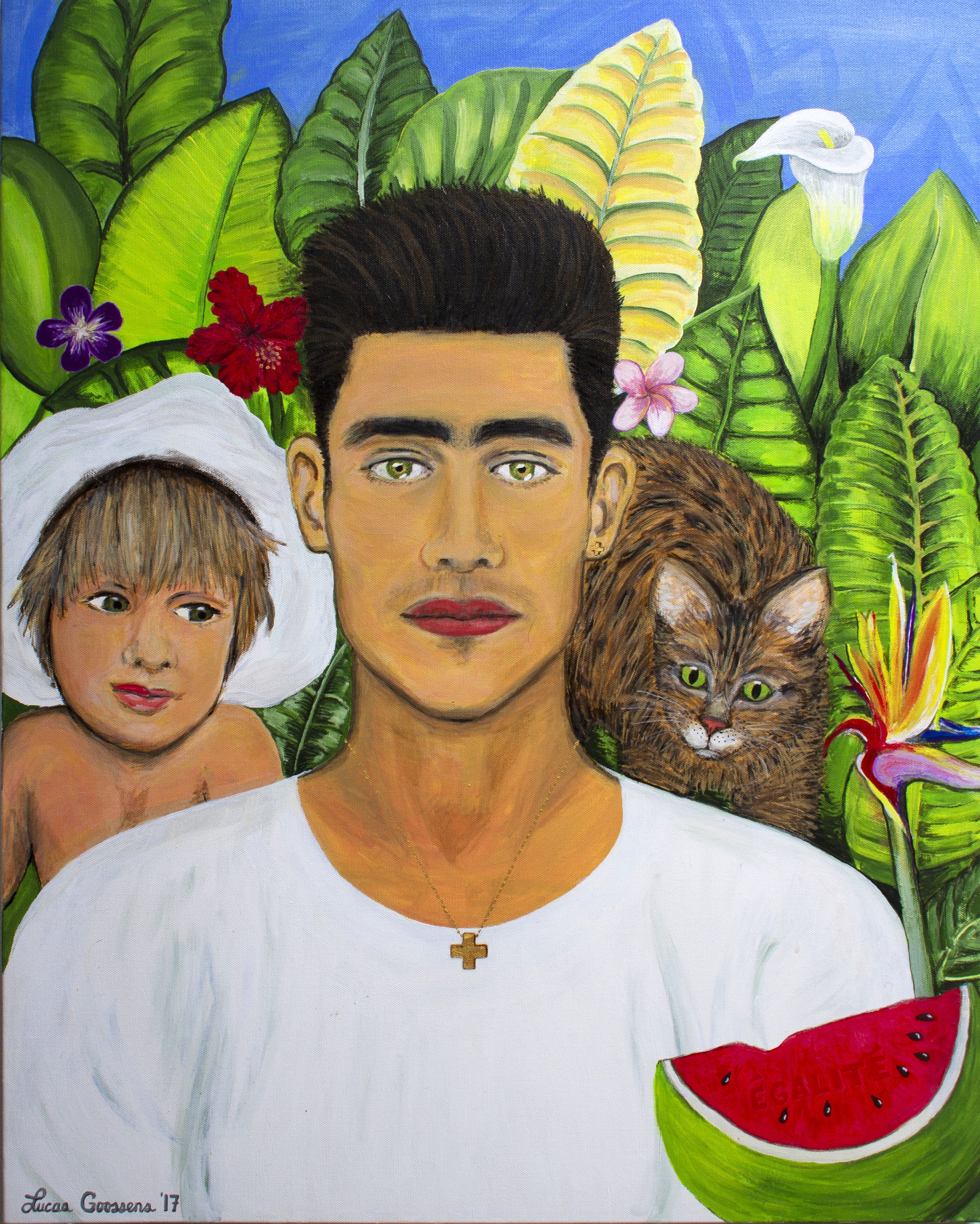 Self Portrait, Frida Kahlo Style