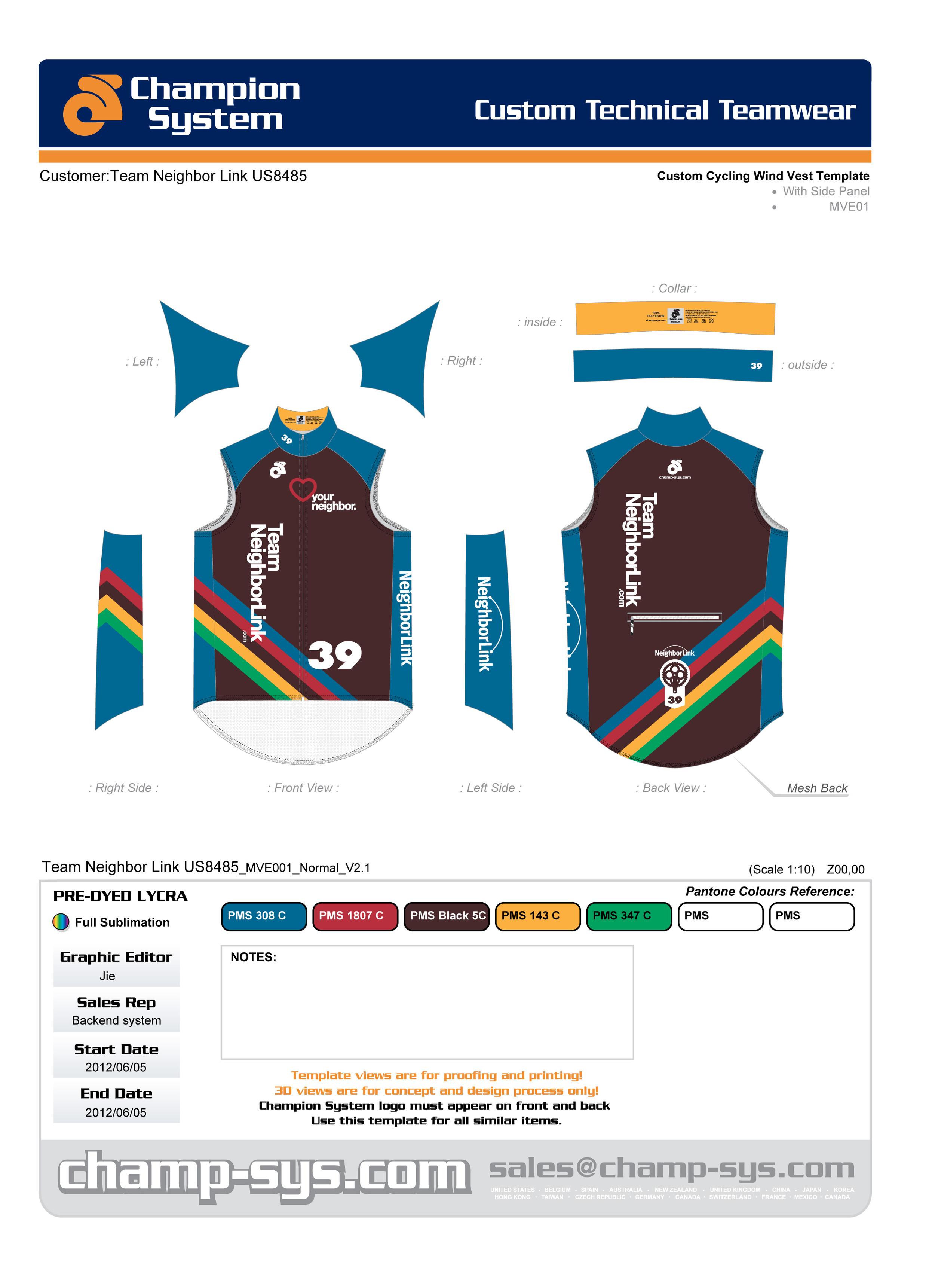 Cycling Wind Vest Design
