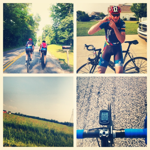 Picture from a Team NeighborLink ride on the north side of Fort Wayne.