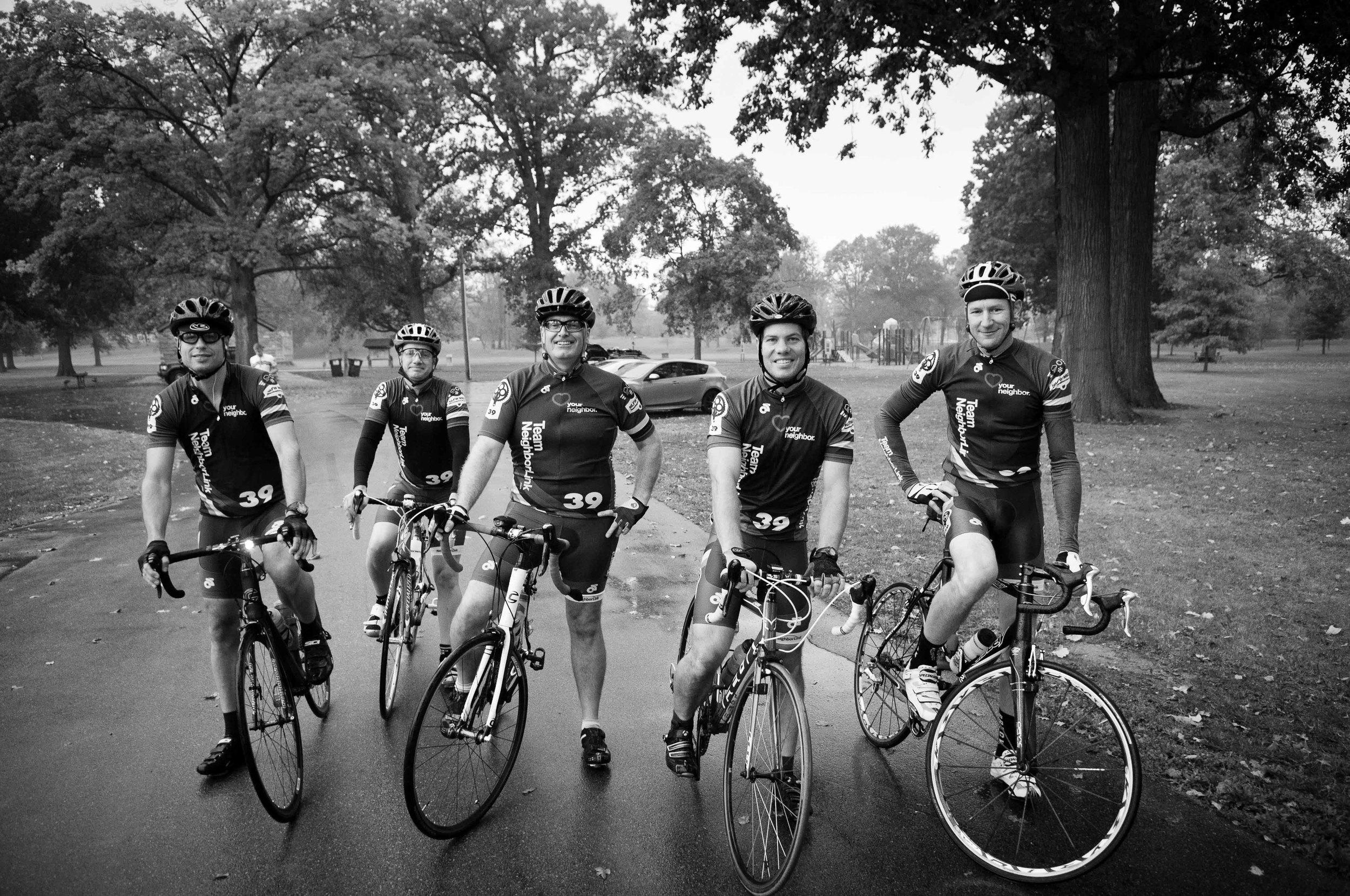 Team NeighborLink Riders. Joe, Paul, Jeff, Ty, and Ed.