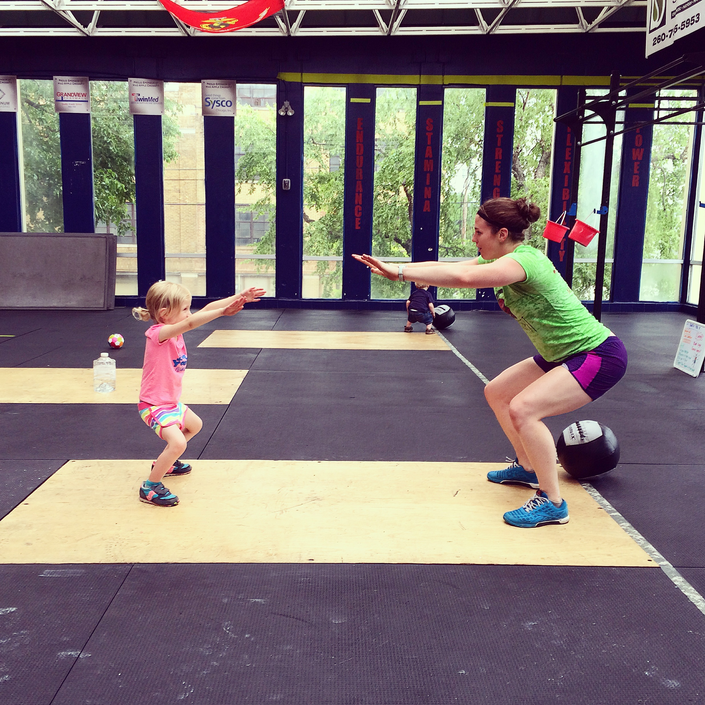Kids can even get involved with CrossFit Kids specific programming.