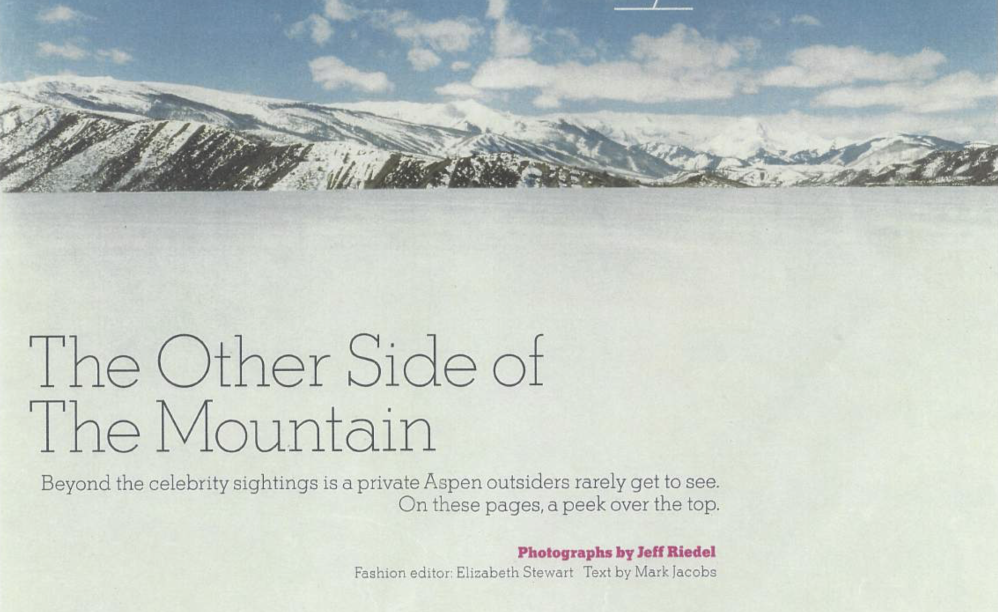 ARTICLE: The Other Side of The Mountain -