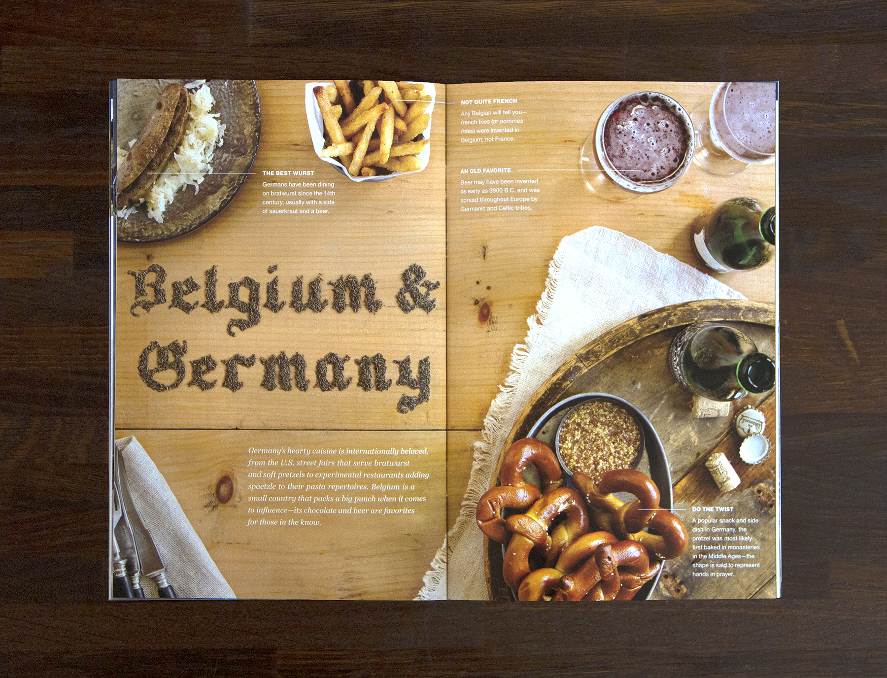 Belgium & Germany, lettered with Caraway Seeds.