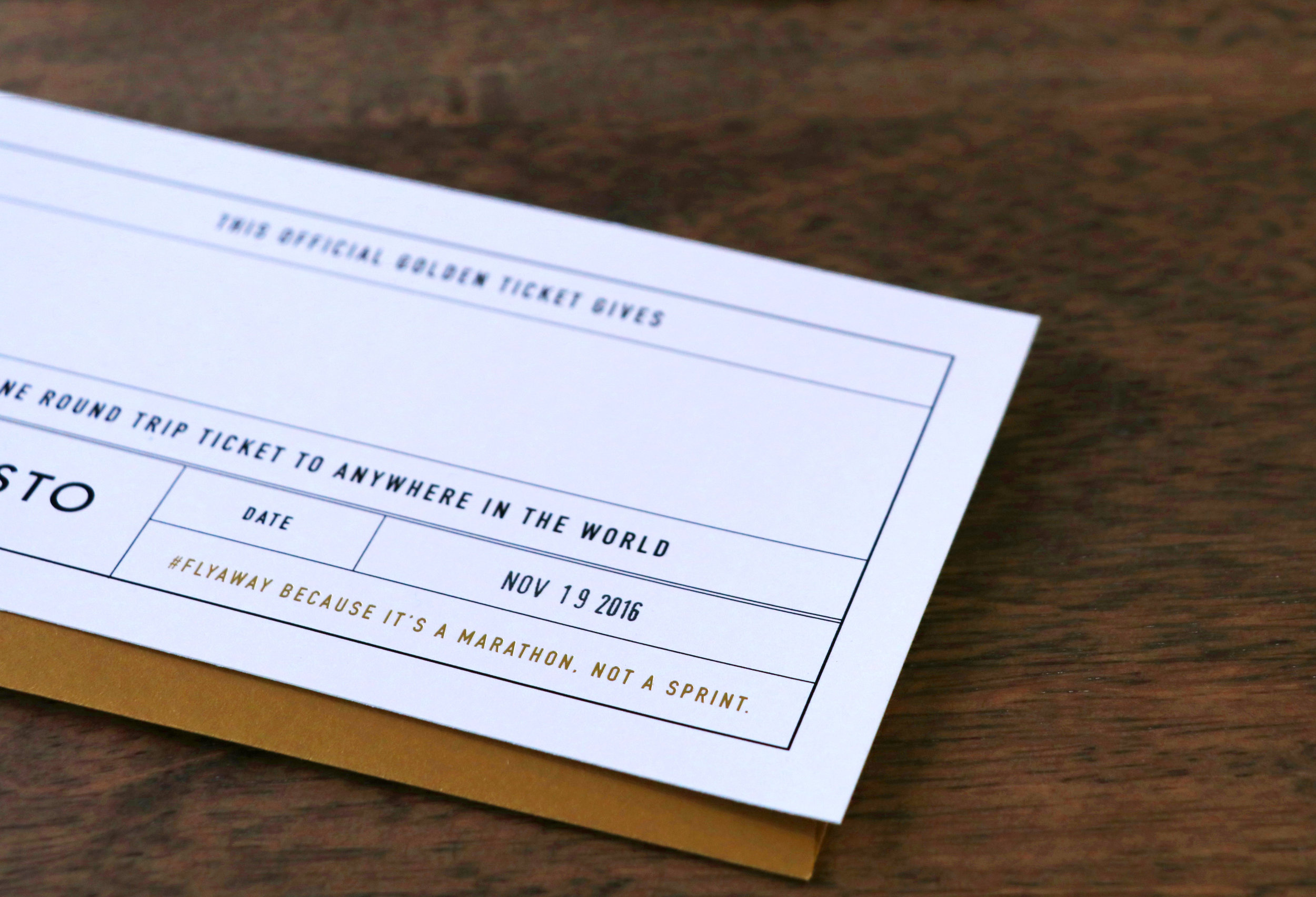 Tickets have a blank space for the recipient's name and a space for their anniversary date to be stamped.