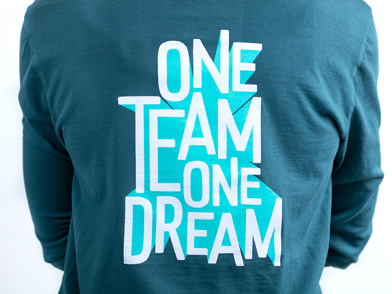 One team one dream shirt - Jenna Carando