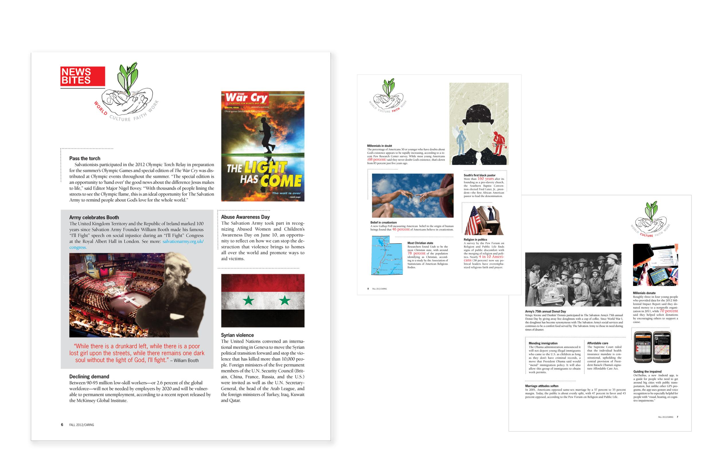 Caring Magazine_ Layout design