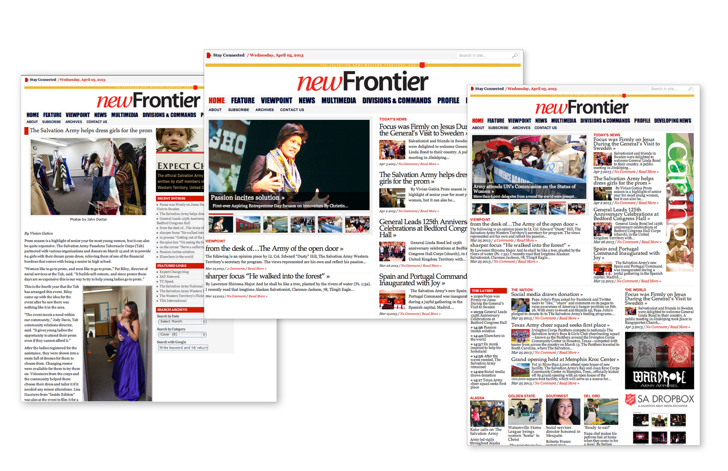 New Frontier_Web content manager