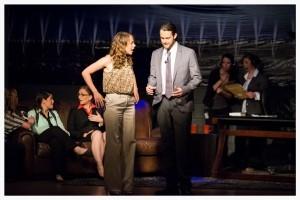 "Kathryn Montgomery and Derek Bargatze during a tense scene in ""What Matters."""