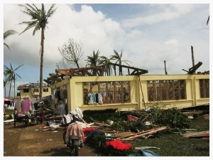Palo, a neighboring town of Tacloban, was one of the harder hit areas by Typhoon Haiyan. This is Zion Bible College, a university that trains young people with biblical education.