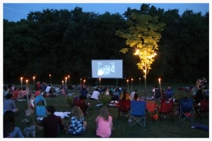 The movie night at the G.O.D. was attended by many in the neighborhood and raised over $200 toward the pavilion project.