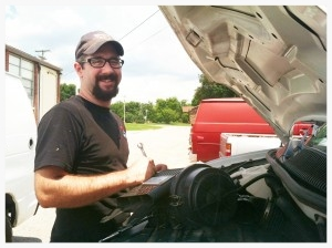 Taylor Maute generously maintains all of the Global Outreach Development vehicles at no cost and uses this opportunity to offer his services to teach other young men the basics of auto mechanics.