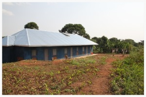 Our triplex is lime-washed a deep blue color, and is outfitted with window and door screens, gutters, an 8,000 liter water storage tank, and solar power. Though these innovations are nothing new in the West, they are not commonly utilized in Africa, and contribute largely to the health of inhabitants.