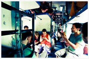 Trains are the most common form of public transportation in India. For participants in the 2010 Da' Mission trip, long hours on the trains were spent in Bible Study and reflection on their experiences. Davis remembers that it was during one of these train rides that her perspective on the arts was first challenged.
