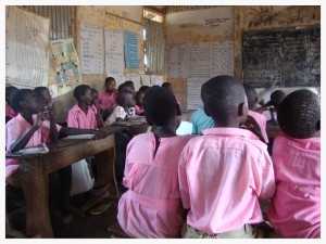 Despite the lack of supplies or the safety of a proper building, students are eager to learn. Sadly, sickness and hunger greatly diminish one's ability to learn.