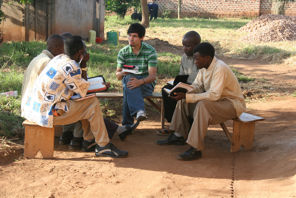 Gregg Garner teaches the bible to a group of Kenyan men who had traveled to Uganda on mission. Bible teaching is not in short supply in East Africa. But bible teaching, supported by a life submitted to that same word, is rare.