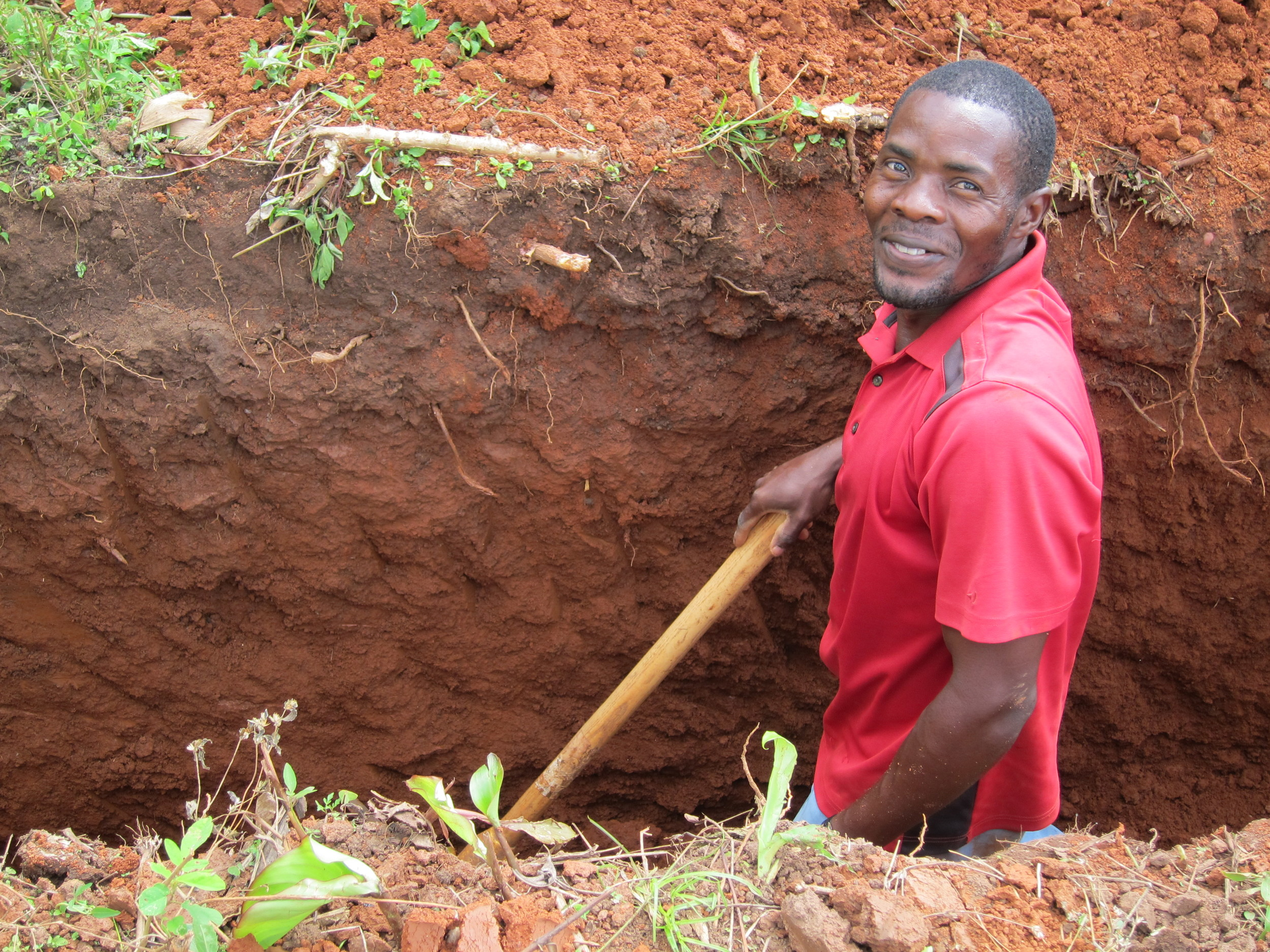 Francis Lubega, a trained mason, has experienced a transformation of mind in learning that he can make an impact on his community through volunteering his skill to improve the environment of those he is in proximity with.