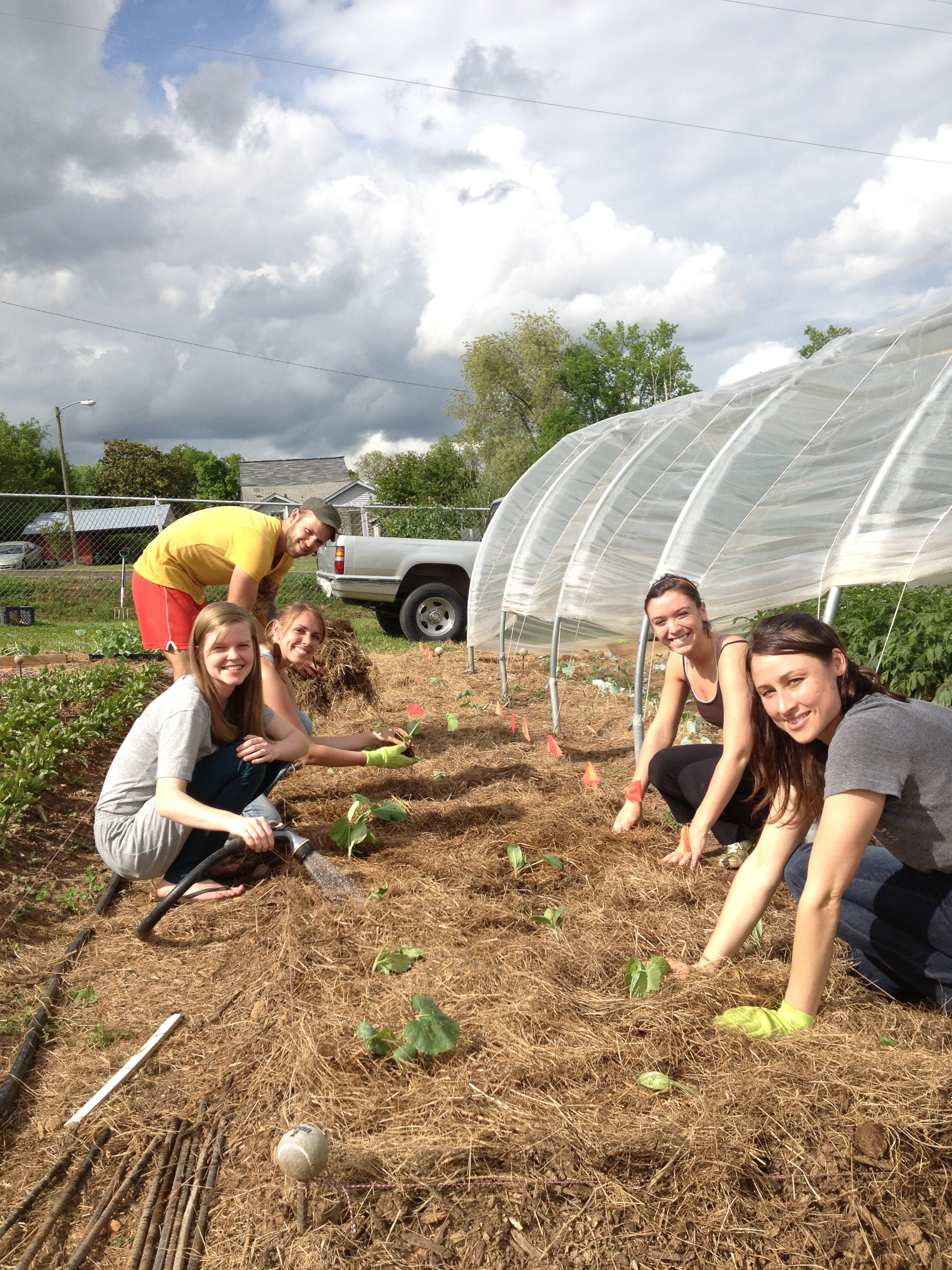 Our garden is primarily kept by the work of volunteers. Single students at the Institute do a weekly garden shift. This summer, over 600 outside volunteers contributed continual work in the garden.