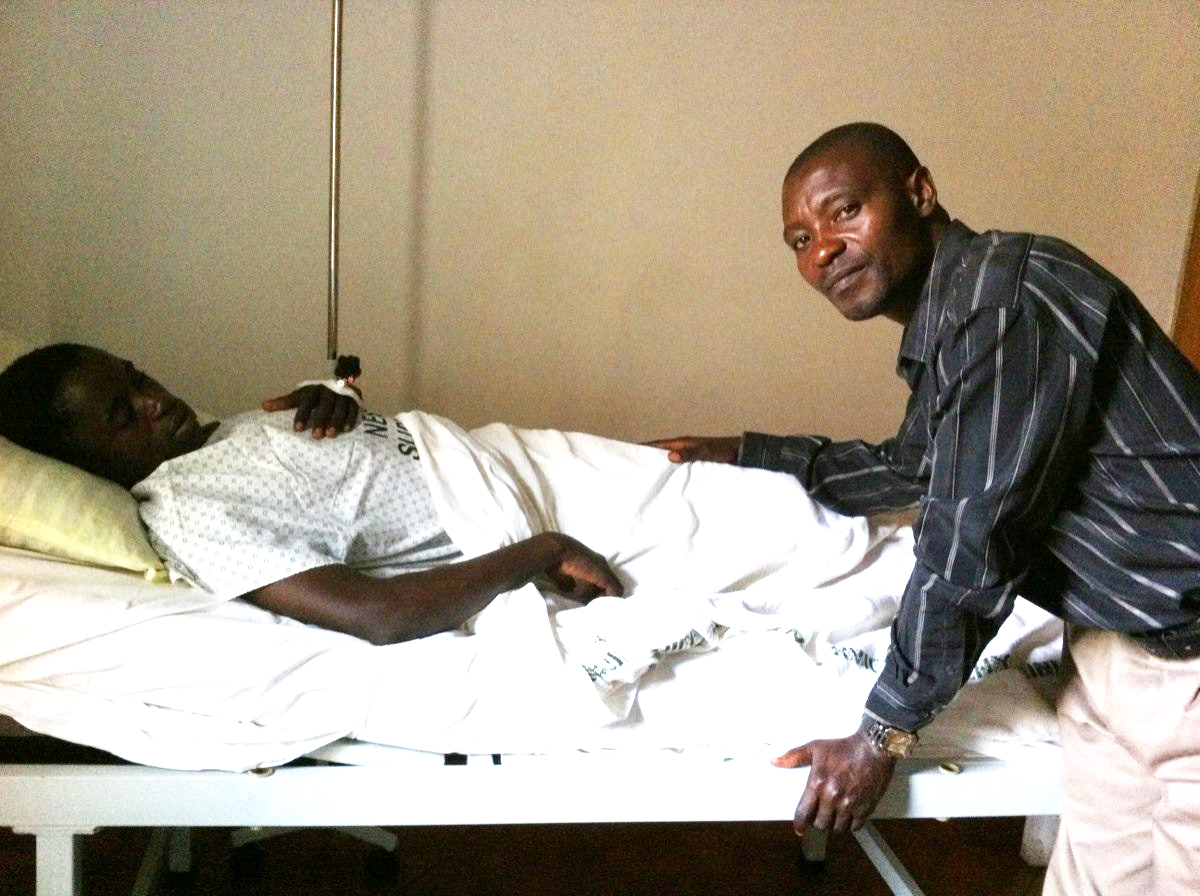 Enock's father visits him after the surgery. He was very grateful for Kendice and Josephine's presence. The medical jargon and increased stressed would have been difficult for him to manage alone.
