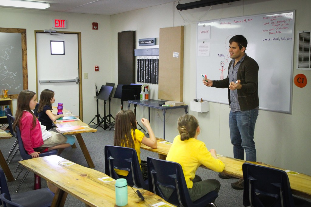 In Stories class, Ben teaches about the basic components of good stories. Benjamin Reese shares his love of stories and literature at the GOD Elementary school.