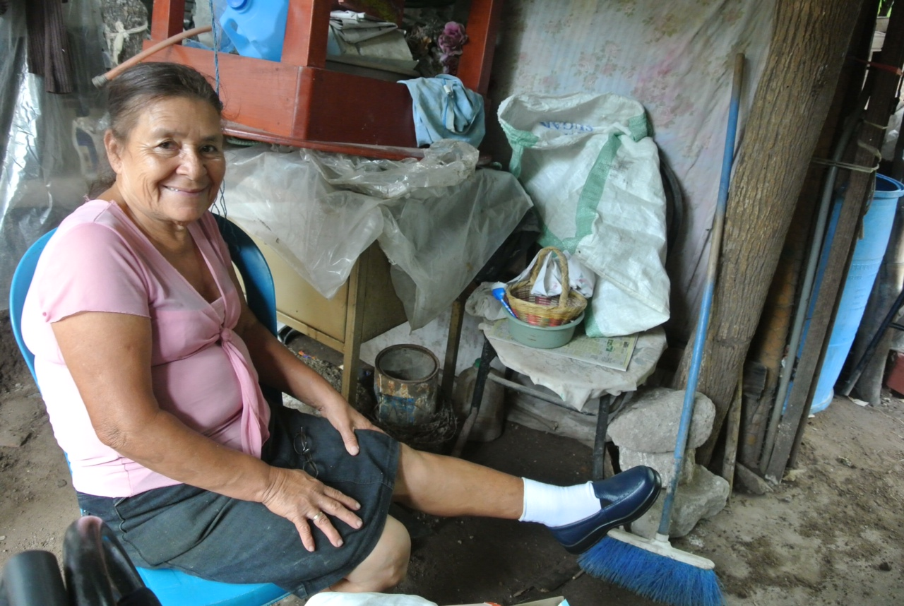 A little over a month ago, Rosa went into a diabetic coma and did not recover for close to 30 minutes. Insulin and other helpful maintenance tools for diabetics are often out of reach for someone like Rosa, on a very limited income. Through our partnership with teams from Ohio and Indiana, we were able to provide her with diabetic shoes and socks (she is modeling them in the picture). People with diabetic neuropathy in their feet may have a false sense of security as to how much at risk their feet actually are, and the shoes help prevent strain, ulcers, callouses, and even amputations for individuals with diabetes and poor circulation.