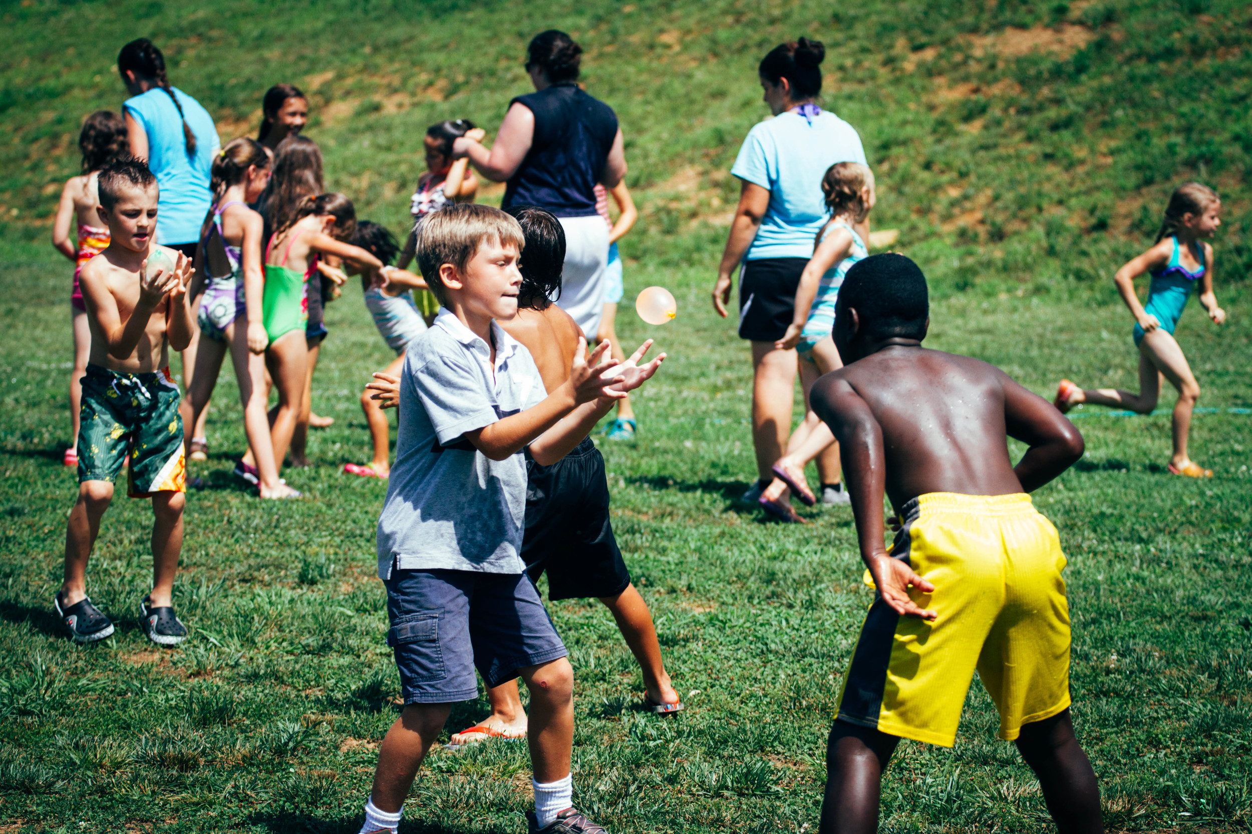 In the Tennessee heat, water activities are a must in July. But at Camp Skillz, activities like these are also an opportunity to learn lessons about teamwork, competition, and rewards.