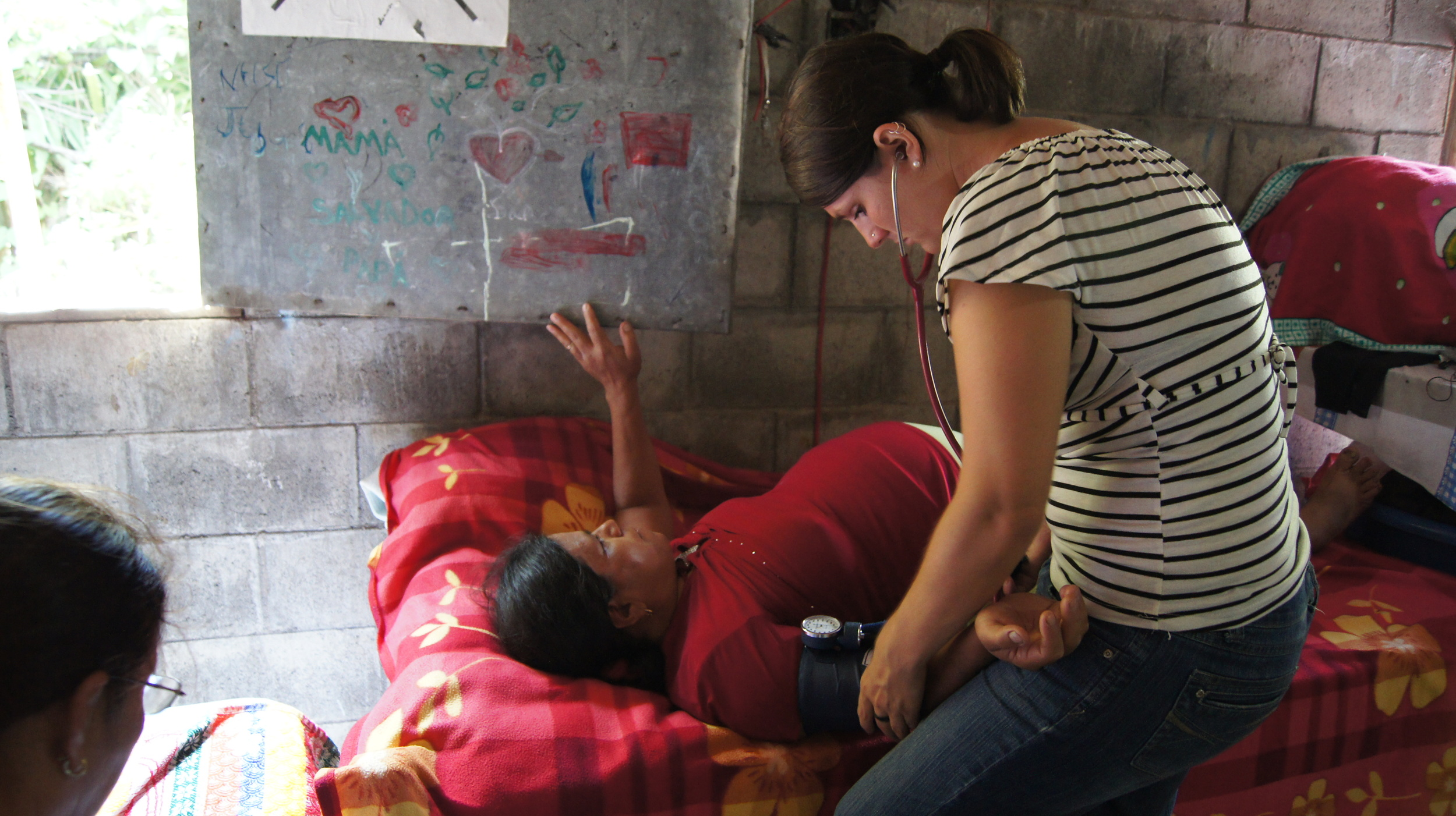 Elise Buckner, a NOVA doula and childbirth educator, assisted with prenatal care and in the process of labor with indigenous midwives in El Salvador.