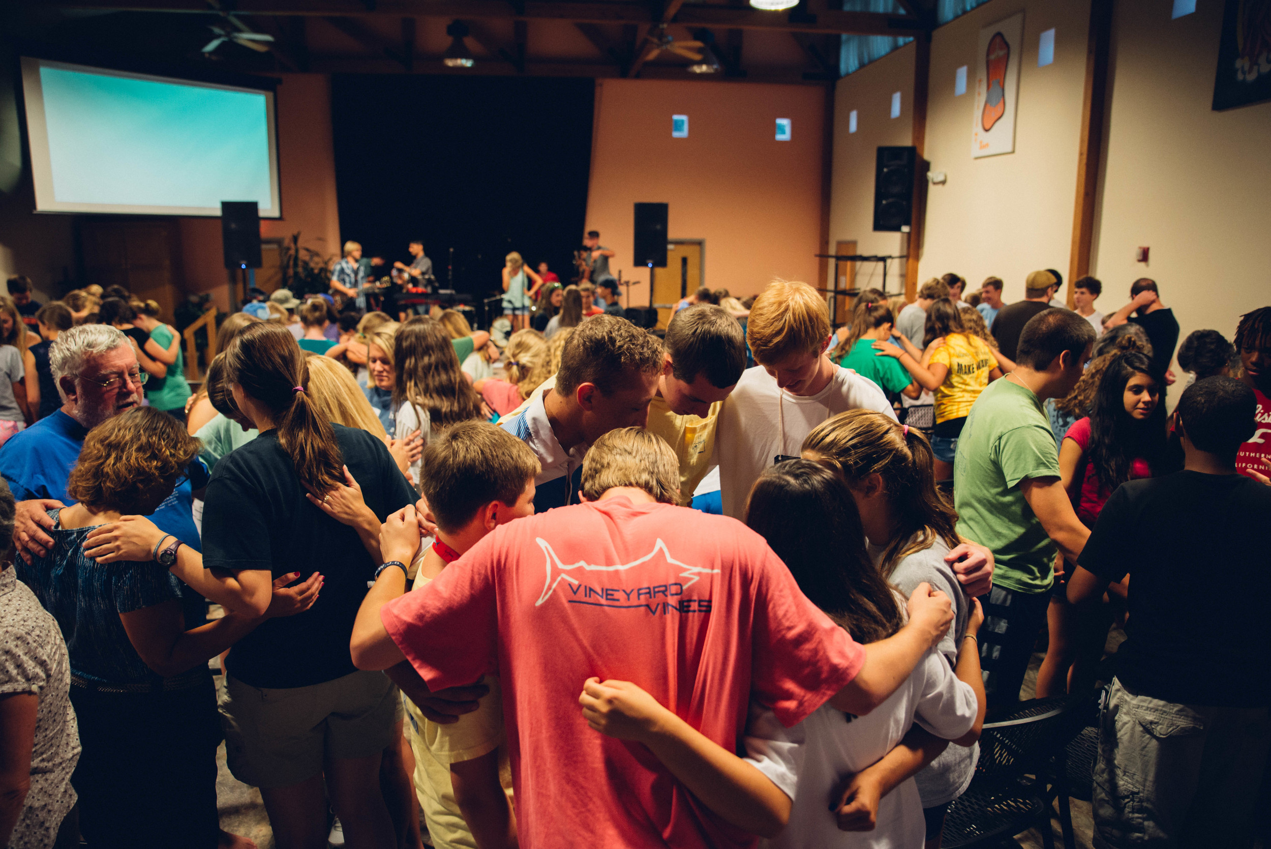 Students participate in worship and bible study twice daily during SLAM service weeks.Young people not only engage in practical service, but are daily challenged in their spiritual walk. They are reminded that love of God and care for those in need go hand-in-hand.