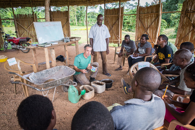 During the Seed Propagation seminar, Davis instructed farmers on how to create potting mix by utilizing a recipe of locally available materials.