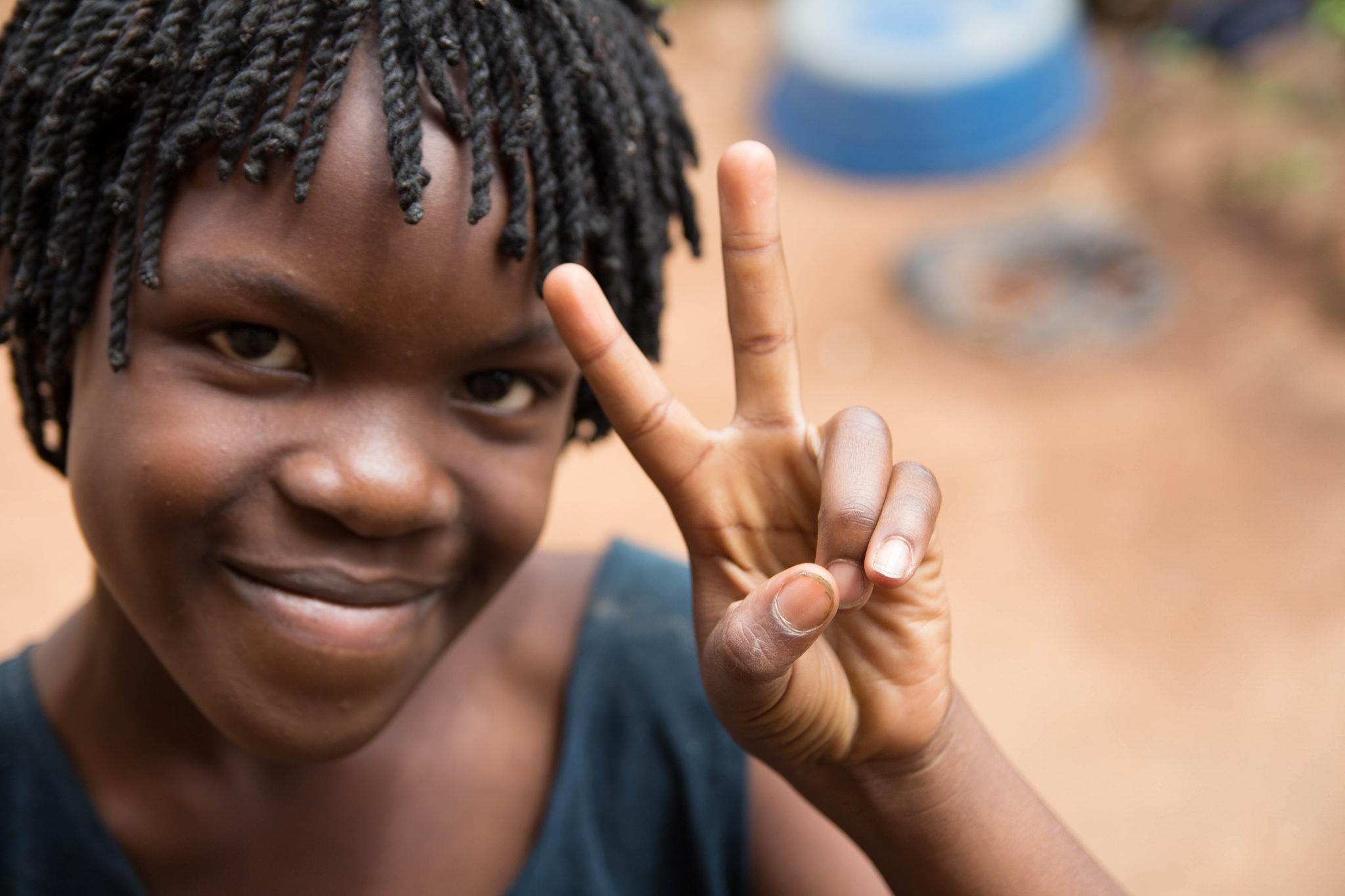 Joy is the fourth of the Kimbugwe children, and definitely lives up to her name.