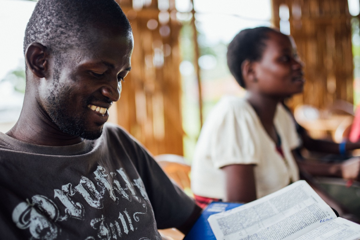 Tom Mayinja has been working as a builder under Francis Lubega for the last five years. Now, he is also a student at the Institute for G.O.D. East Africa.