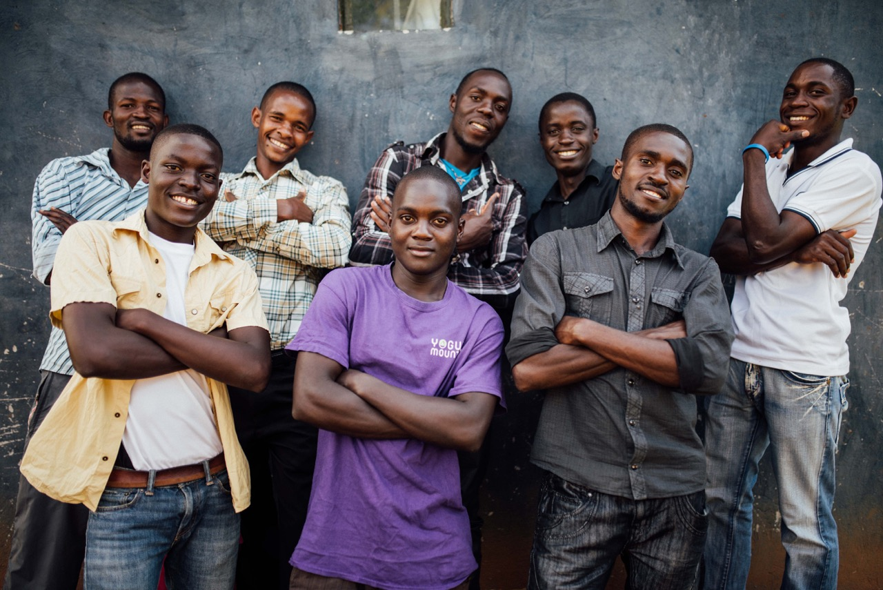 Young men who are studying at the Institute for G.O.D. EA, and involved in community bible studies.