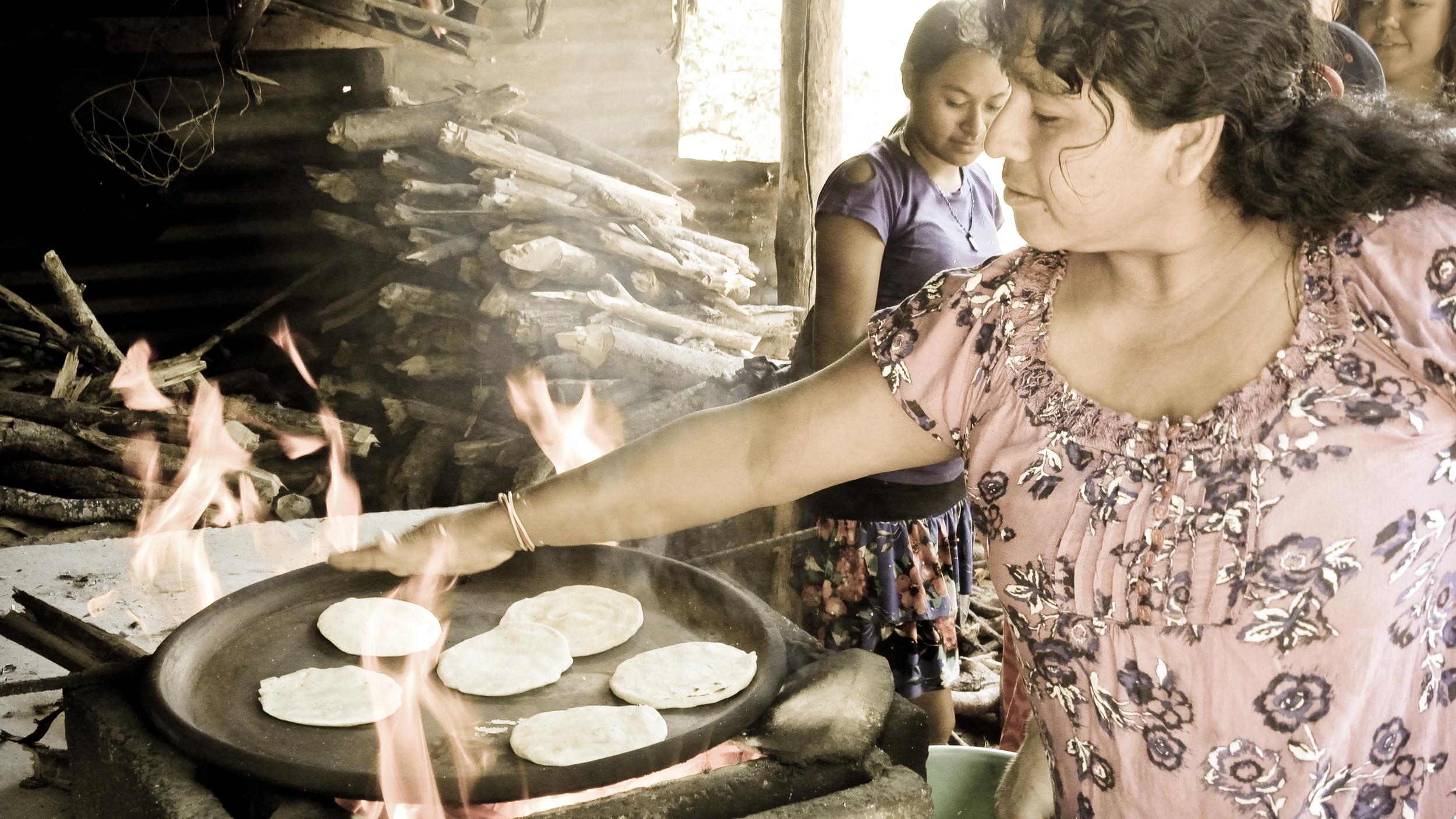 Cooking with open fires is common in El Salvador. This method requires a lot of wood, which is a resource that is physically demanding to gather.