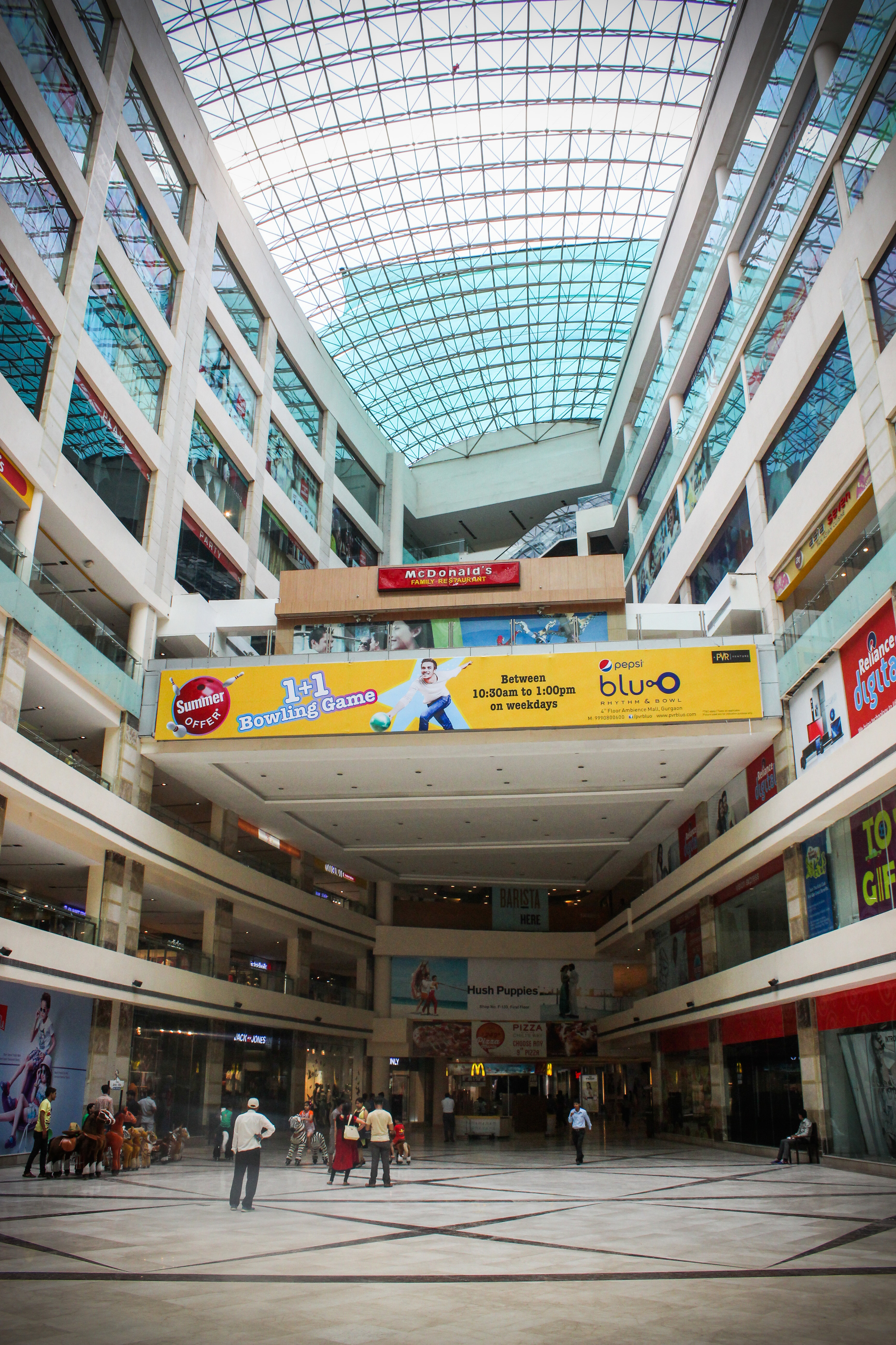 The 8-Story Ambiance Mall in Gurgaon, India.